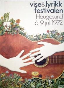 Plakat fra Vise og lyrikkfestivalen i 1972